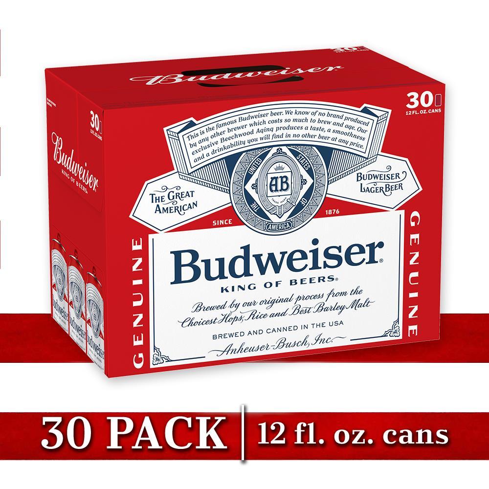 budweiser beer 30 pack beer 12 fl oz