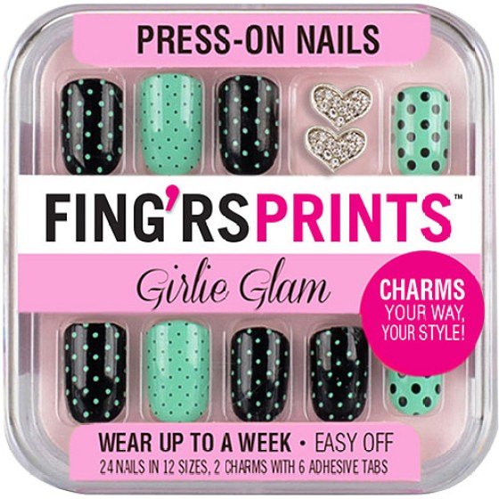 Fing Rs Prints Ie Glam Press On Nails The Dot 26 Count Walmart