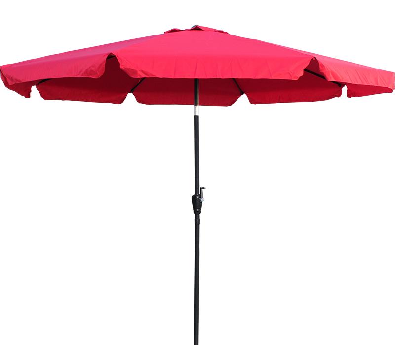 10 ft red aluminum patio umbrella outdoor market yard w valance crank tilt