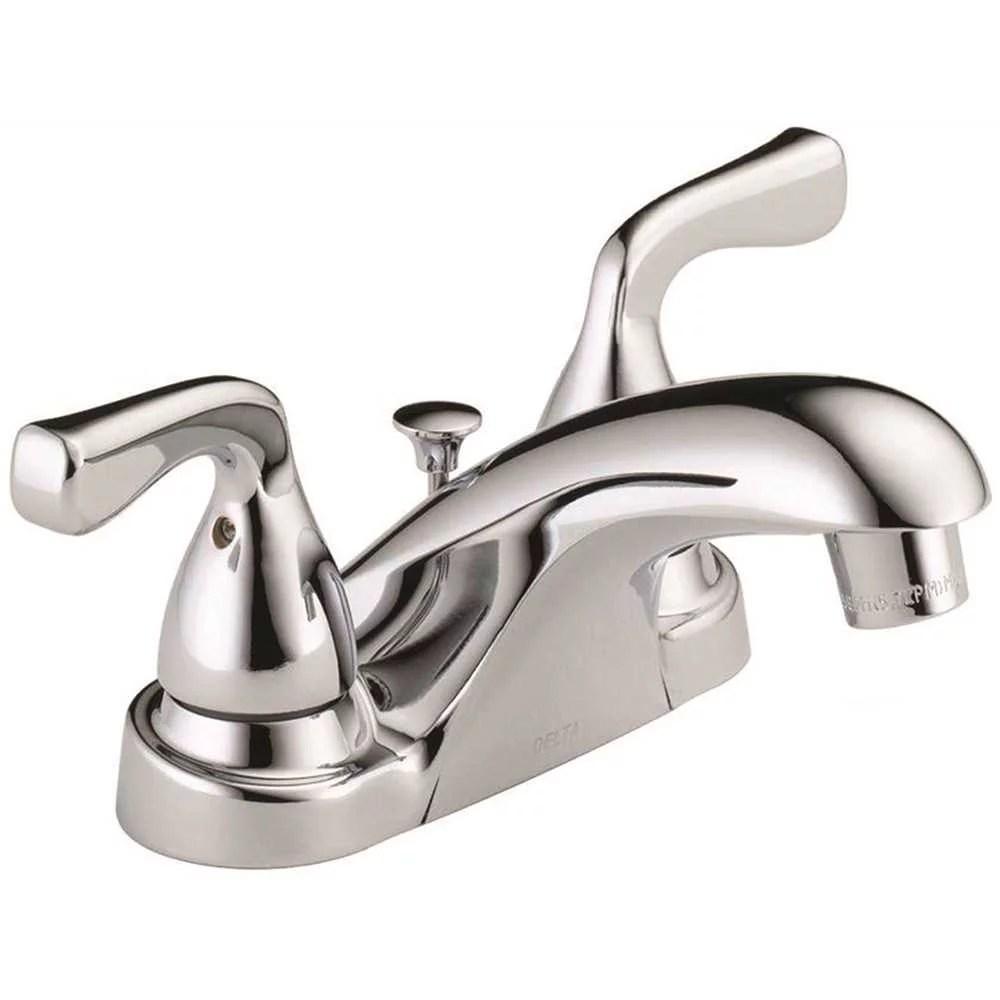 delta foundations 4 centerset bathroom faucet in chrome b2511lf ppu eco