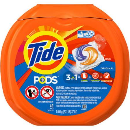 Tide PODS Original Scent HE Turbo Laundry Detergent Pacs, 42 count