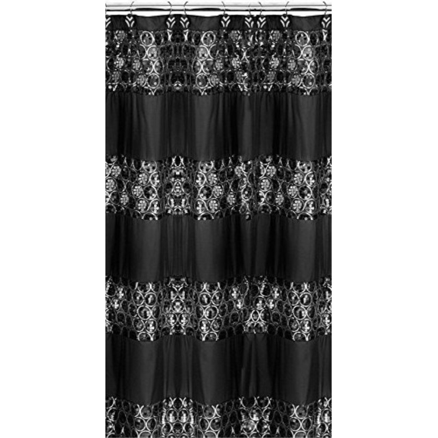 popular bath shower curtain sinatra collection 70 x 72 black walmart com