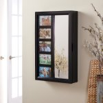 Photo Frames Wall Mount Jewelry Armoire Mirror High Gloss Black 16w X 24h In Walmart Com Walmart Com