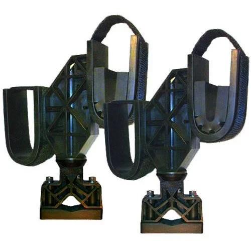 rugged gear 10200 atv mount double hook gun rack