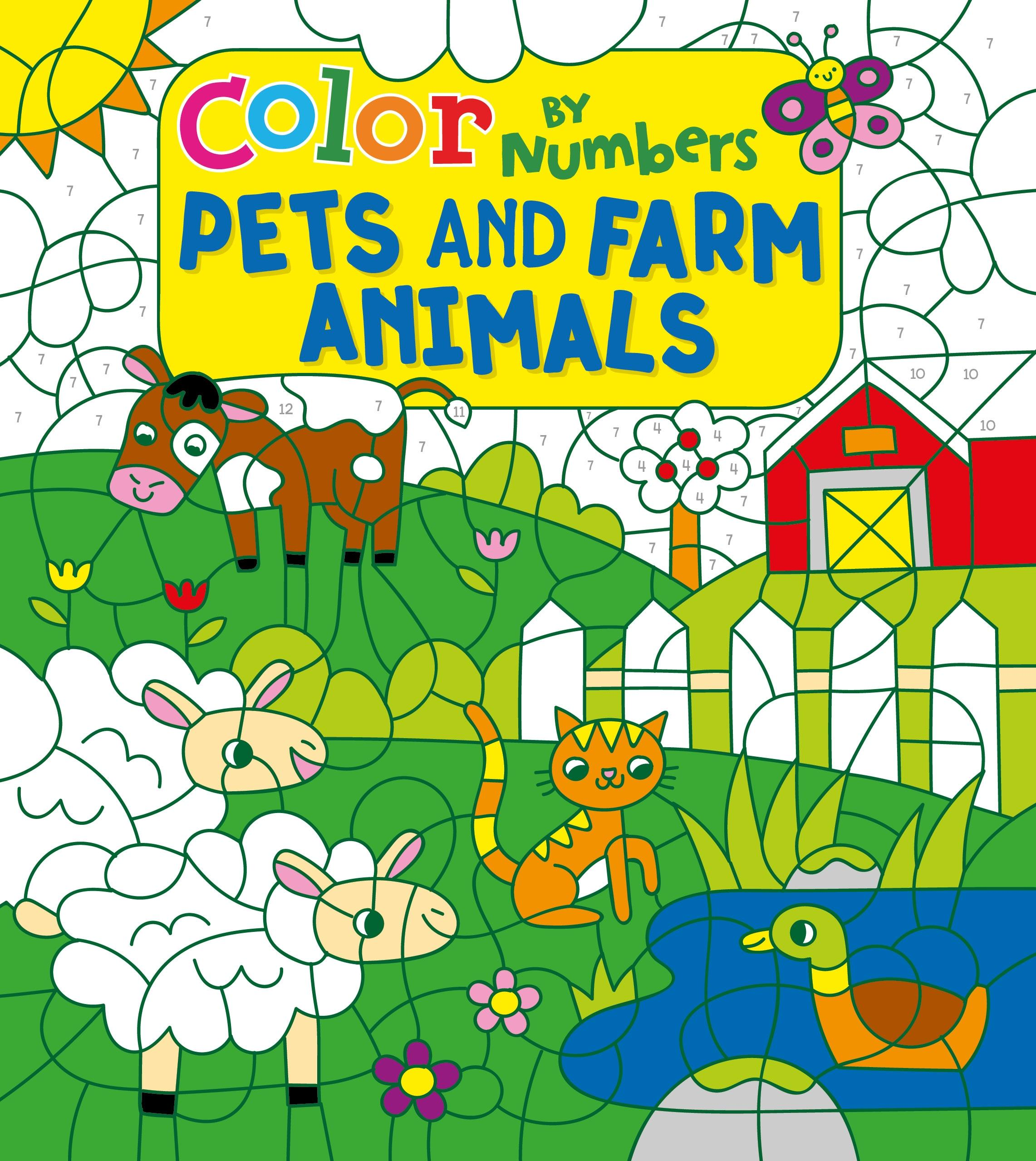 Children S Color By Numbers Color By Numbers Pets And