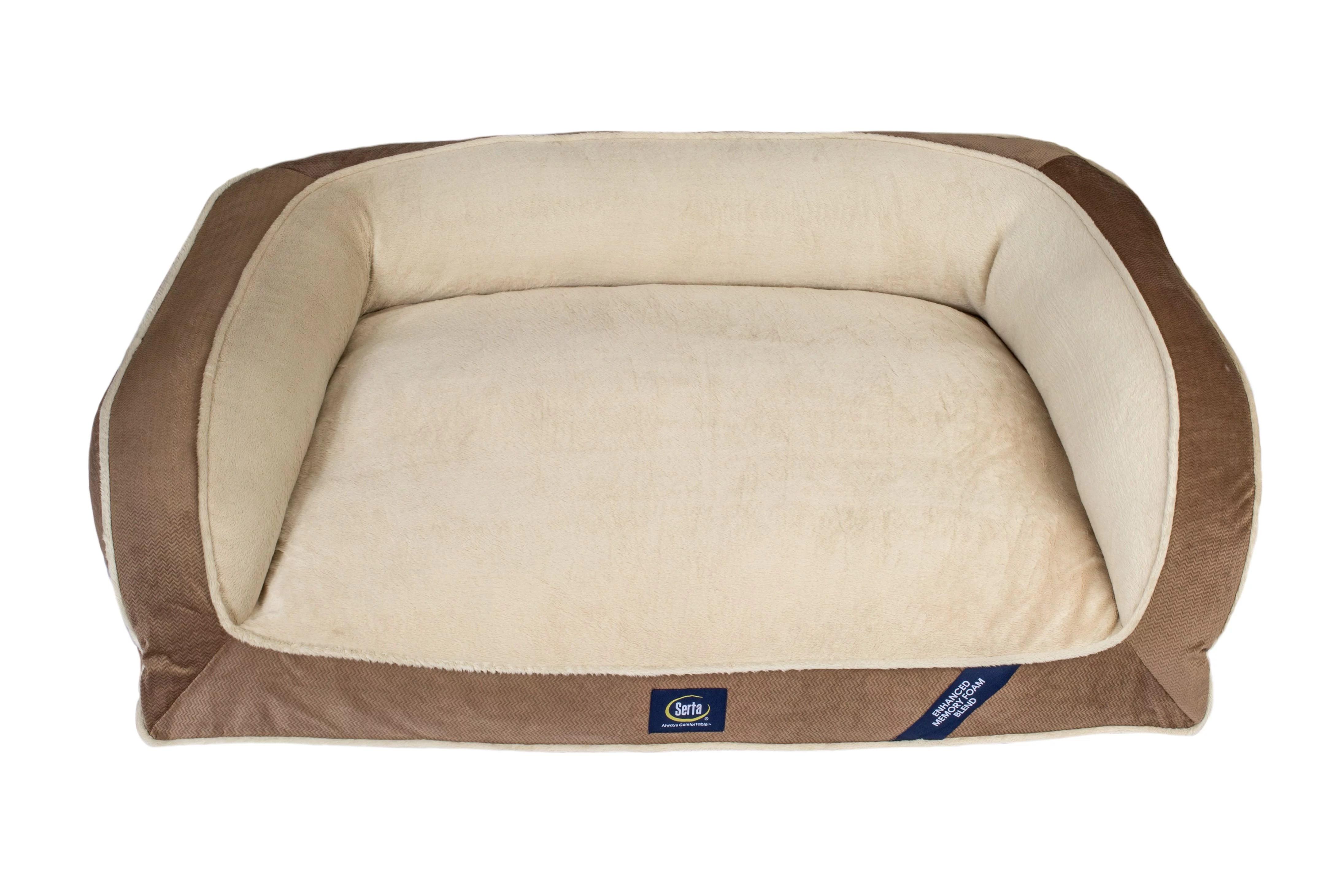 Sertapedic Memory Foam Couch Extra Large Pet Bed Brown 44 L Walmart Com Walmart Com
