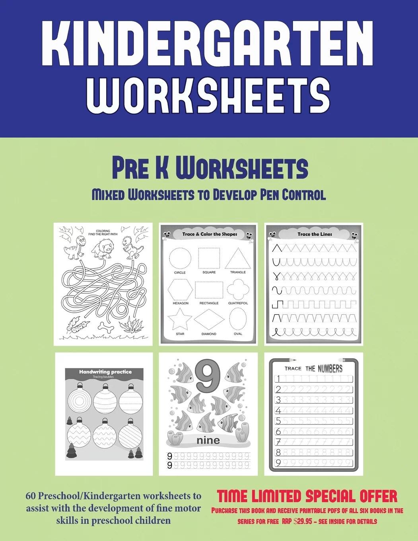 Pre K Worksheets Pre K Worksheets Mixed Worksheets To