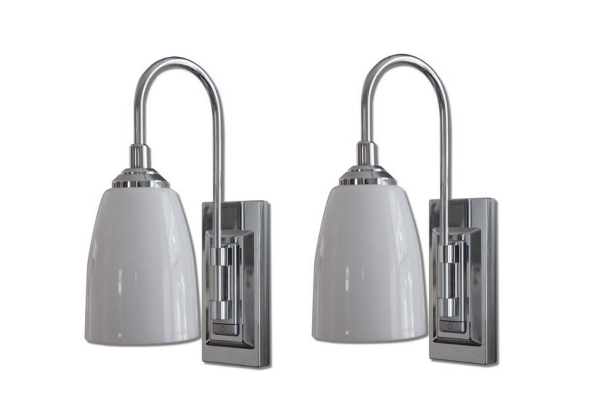 Rite Lite LPL780C Battery-Operated LED Classic Chrome Wall ... on Battery Powered Wall Sconces id=87639