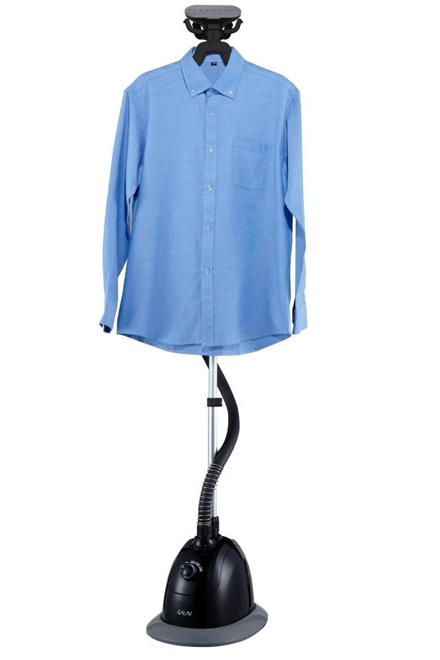SALAV GS34-BJ Performance Garment Steamer with 360-Degree Swivel Multi-Hook Hanger, 4 Steam Settings, 1500W, Black