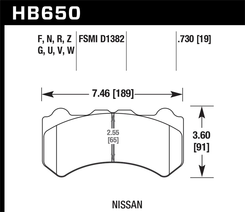 Hawk 09 11 Nissan Gt R Performance Ceramic Street Front