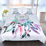 3pcs Colorful Duvet Cover Set 4 Sizes Bohemian Style Feather Bed Cover Hippie Bedspread Coverlet With 2 Pillow Shams Single Double Queen King Walmart Com Walmart Com