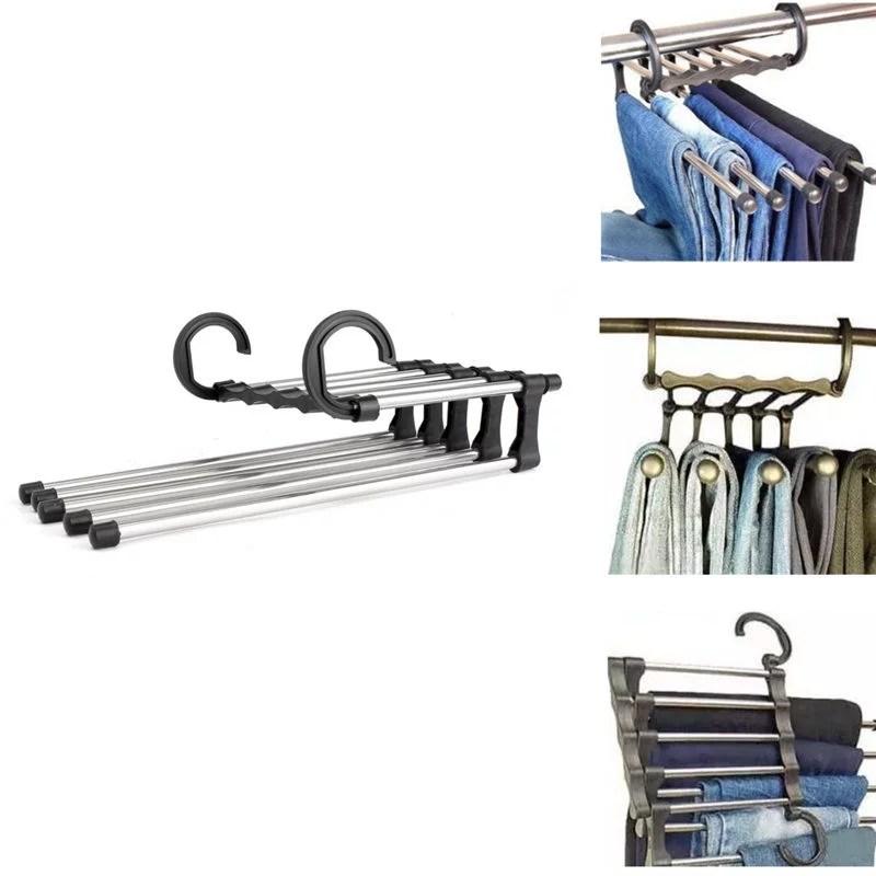 Space Saver Hangers Closet Organizer Pant Stand Rack Magic ... on Closet Space Savers Walmart  id=50314