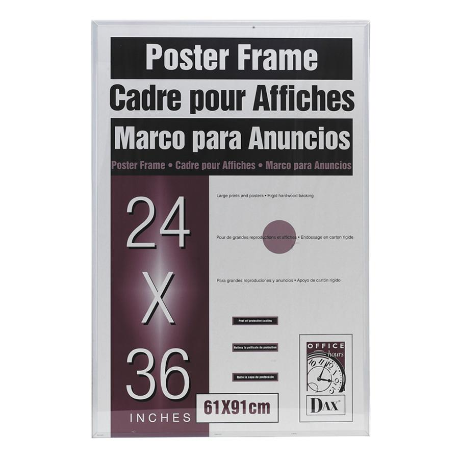 dax u channel poster frame contemporary clear plastic window 24 x 36 clear border