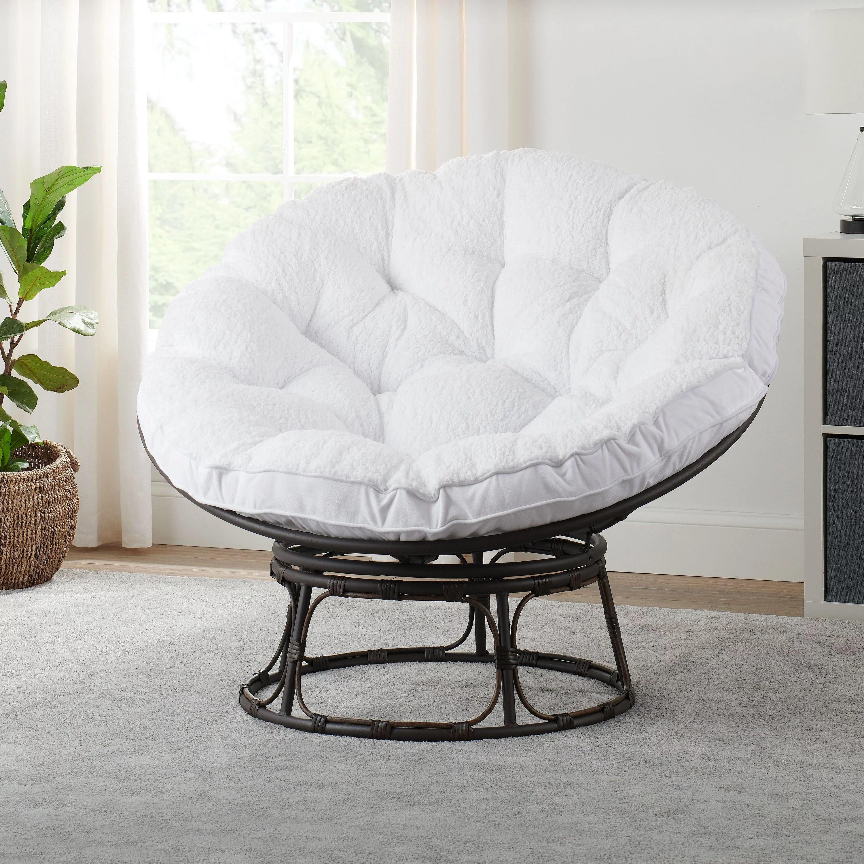 better homes gardens papasan chair with sherpa cushion white