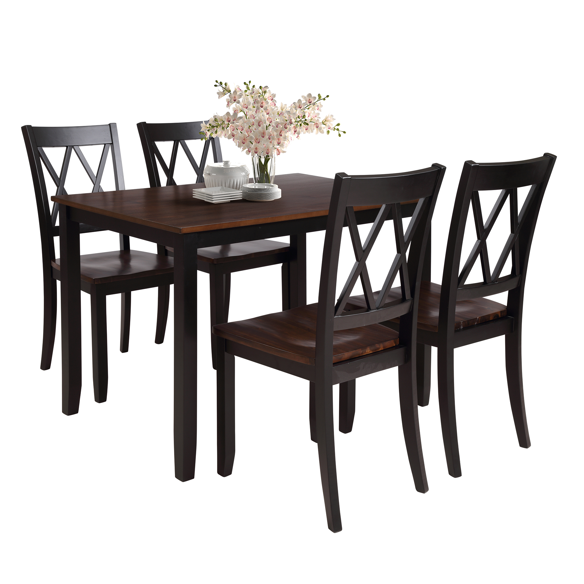 clearance dining table set with 4 chairs 5 piece wooden on dining room sets on clearance id=75129