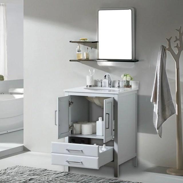 """Vanity Art 24"""" Single Sink Bathroom Vanity Cabinet 1-Shelf ... on {keyword}"""