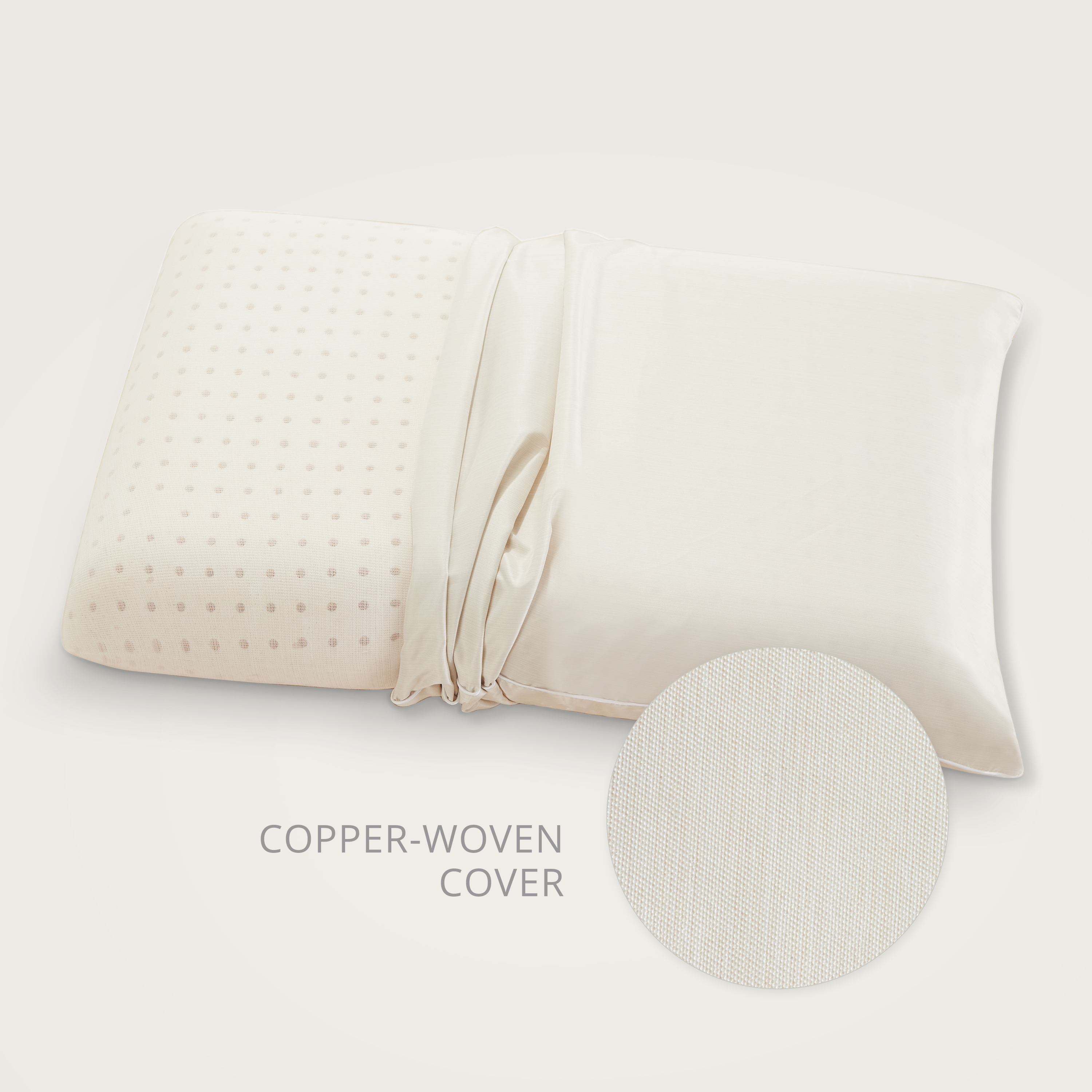 copperfresh gel memory foam pillow with copper embedded cover