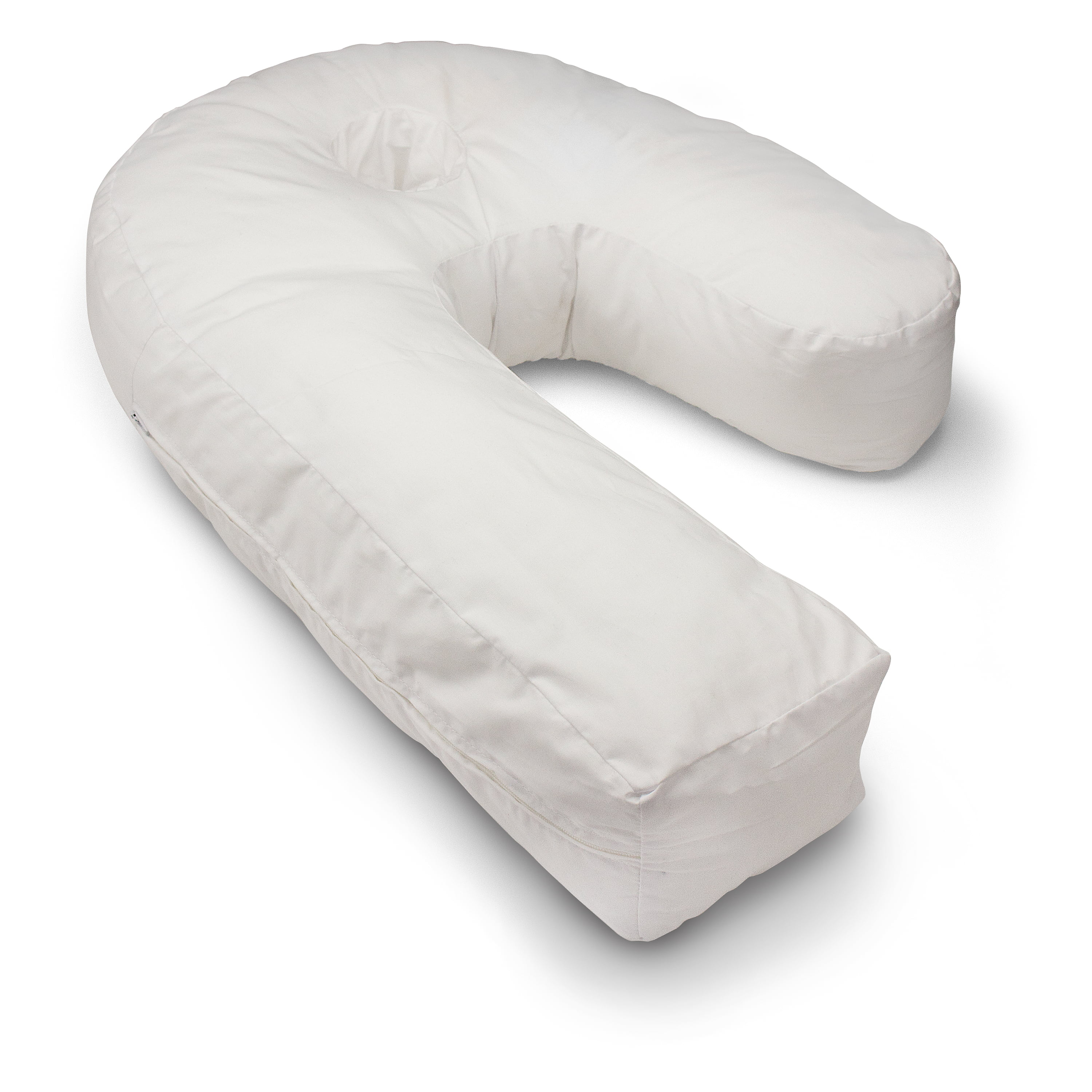 dmi side sleeper body pillow with contoured support to help eliminate neck back pain includes hypoallergenic removable washable cover firm