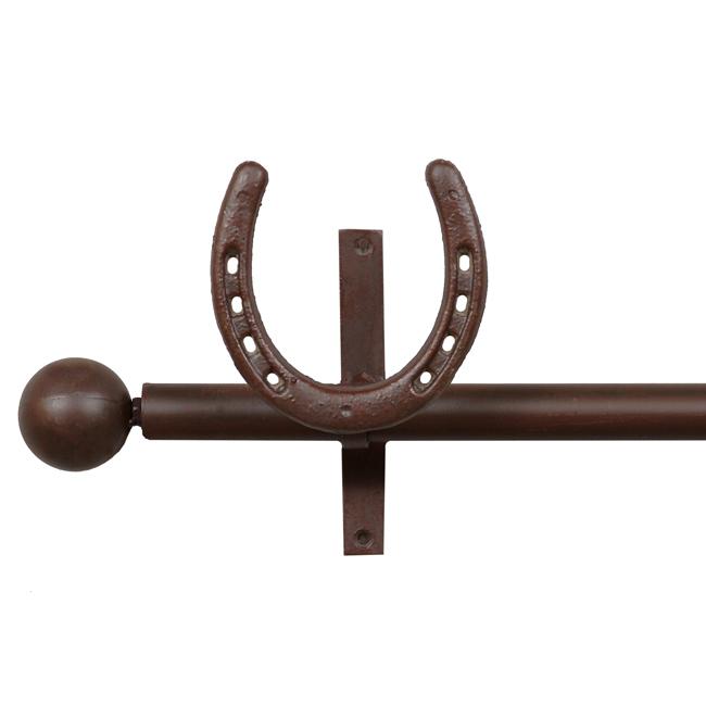 horseshoe curtain rod rod holders
