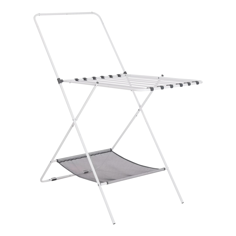 mainstays foldable drying rack white walmart com