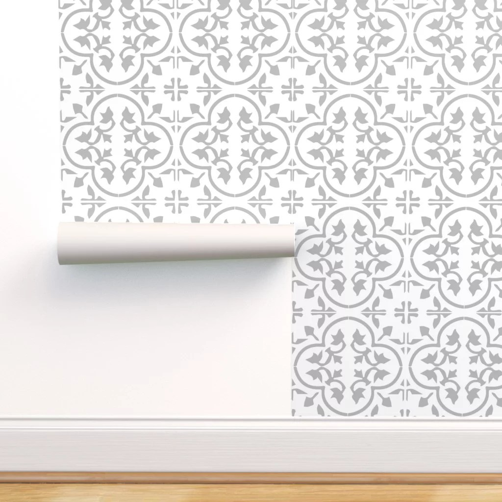 peel and stick removable wallpaper encaustic tile cement morroccan mexican