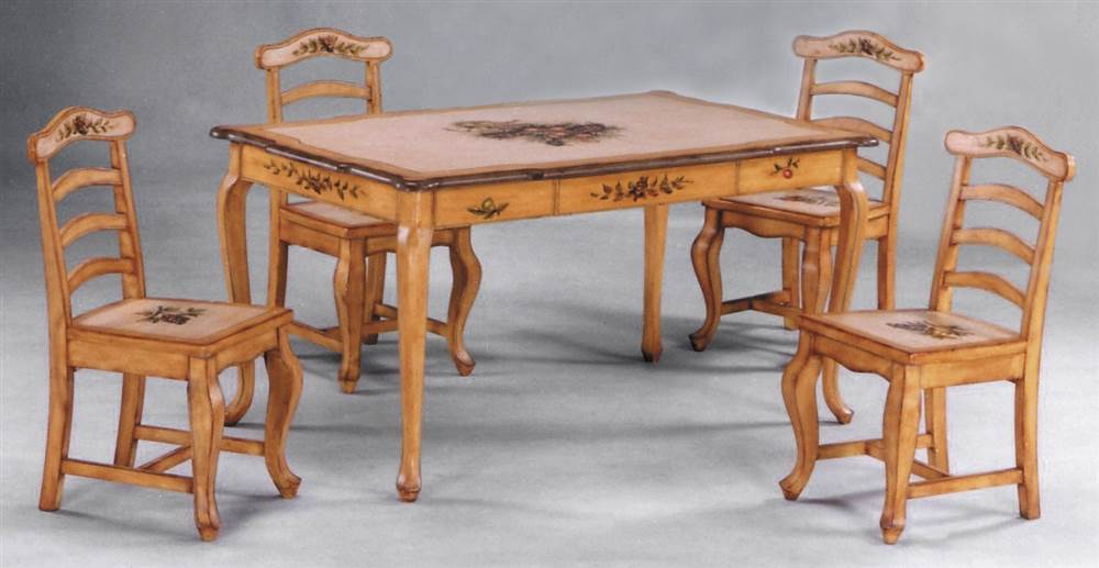 rustic hand painted dining room table with cabriole legs on hand painted dining room tables id=86365