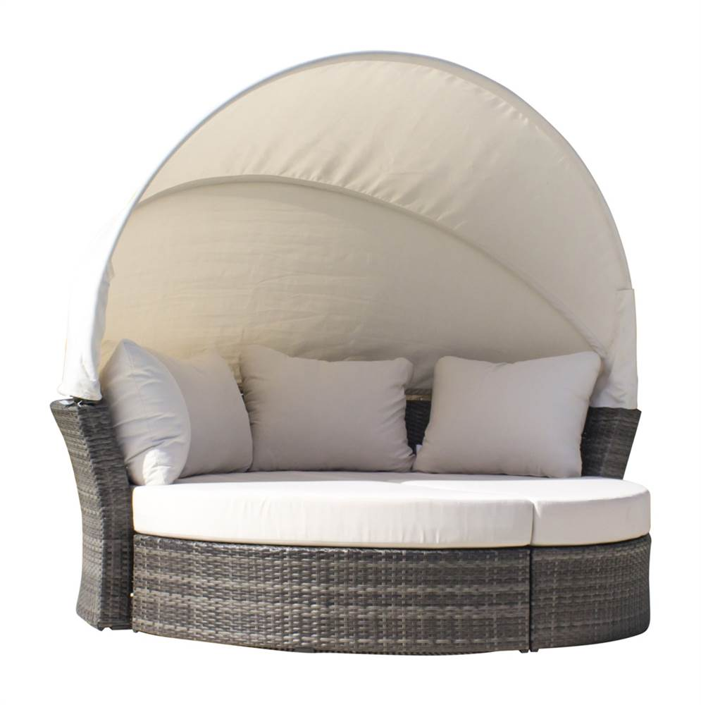 3 pc outdoor canopy daybed set sunbrella canvas spa