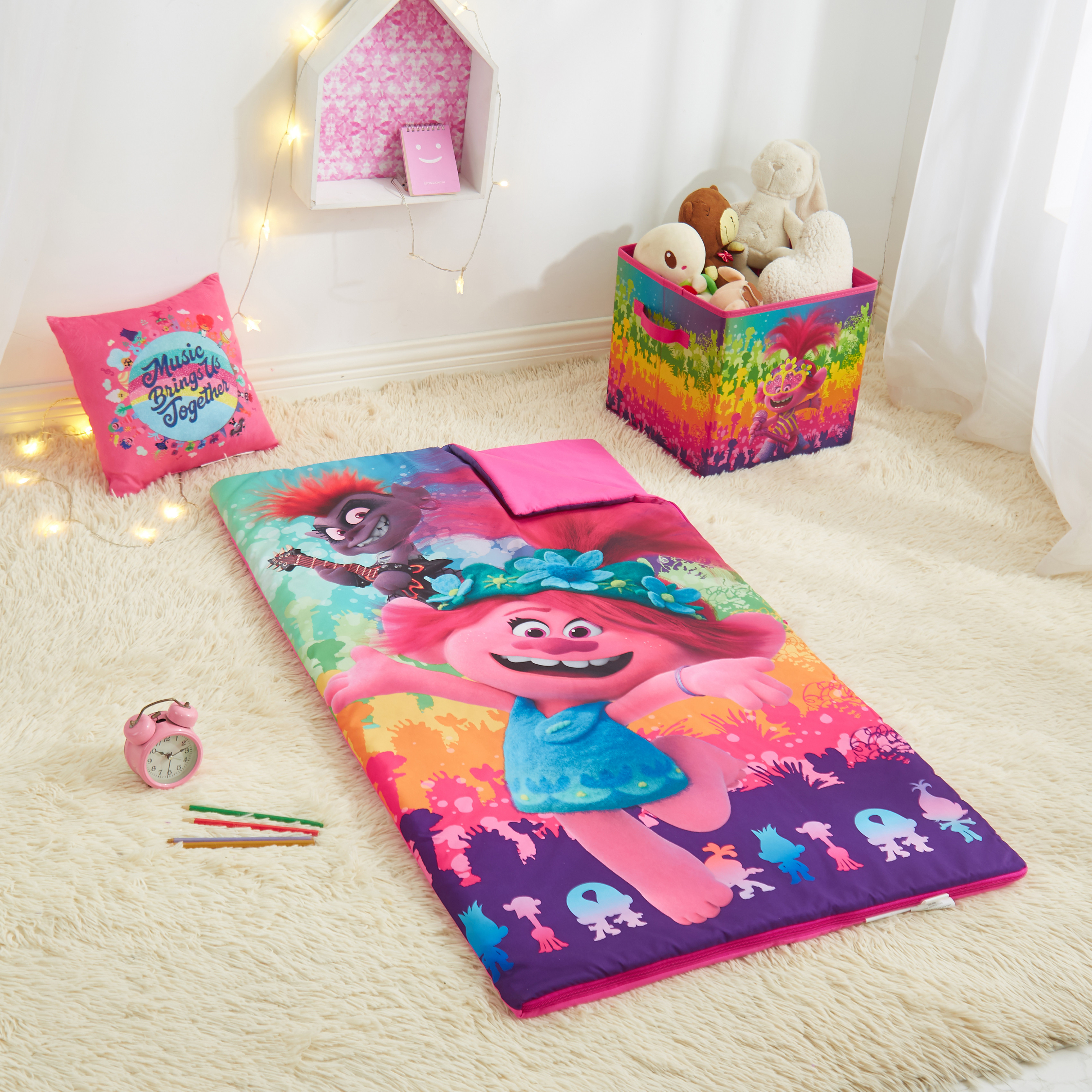 trolls 2 combo set with sleeping bag storage cube and bonus pillow walmart com