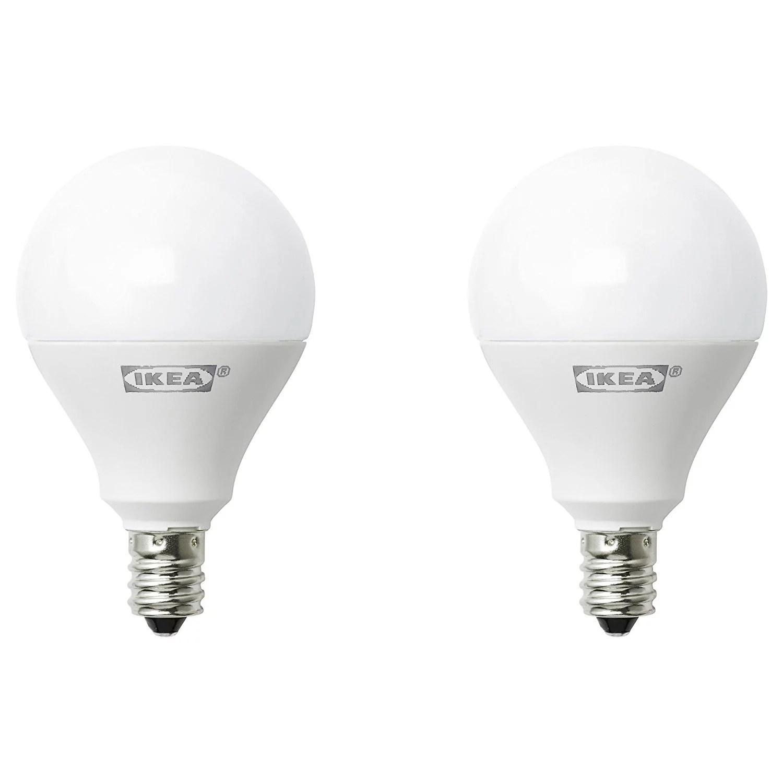 ikea ryet e12 400 lumen led light bulb 5 watt pack of 2 walmart com