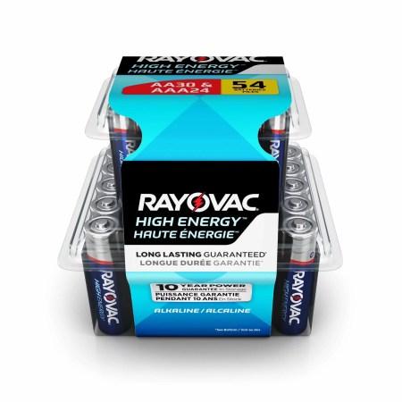 Rayovac High Energy Alkaline, 30 AA & 24 AAA Batteries, 54 Count