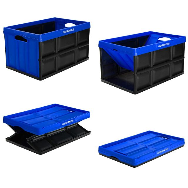 Clevermade Clevercrates Collapsible Storage Container 62 Liter Royal Blue Walmart Com