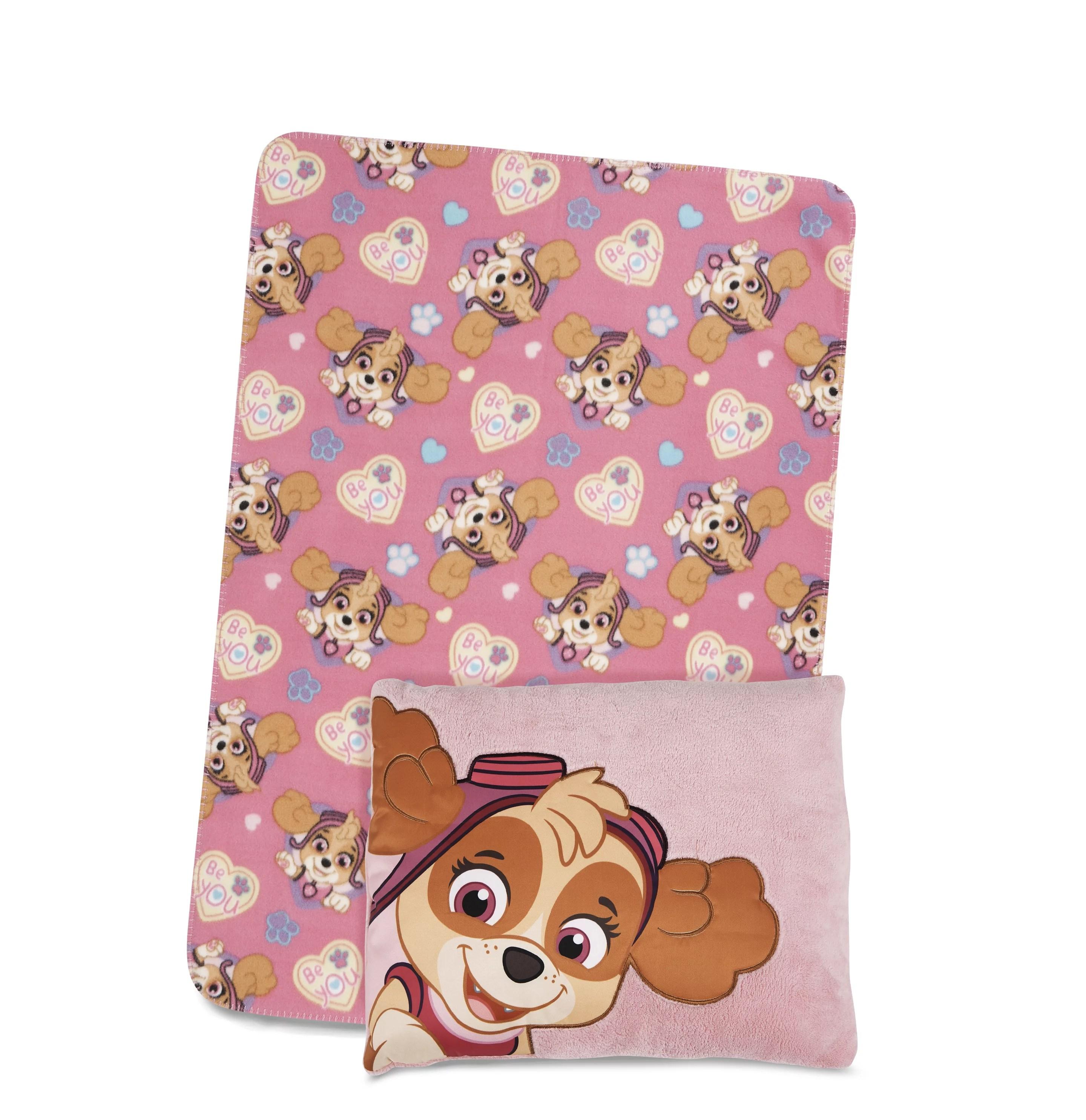 paw patrol skye toddler pillow blanket set walmart com