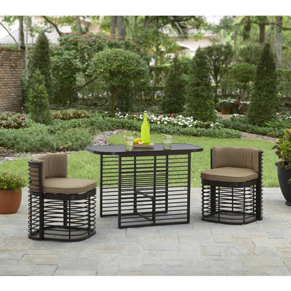 Better Homes and Gardens Murray Hill 3 Piece Outdoor Bistro Set     Better Homes and Gardens Murray Hill 3 Piece Outdoor Bistro Set    Walmart com