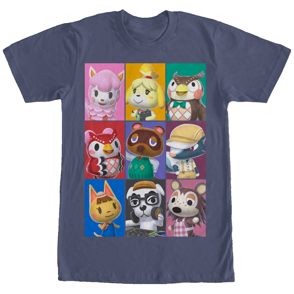 Nintendo Men's Animal Crossing Characters T-Shirt