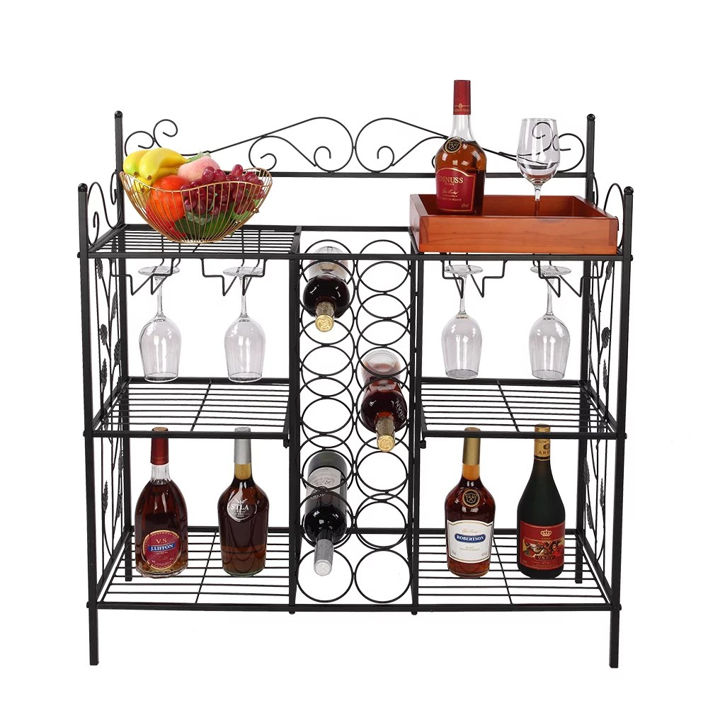 corner wine rack kitchen bakers rack with wine rack wine storage rack with 12 bottles wine storage and 12 glass holder wine rack free standing