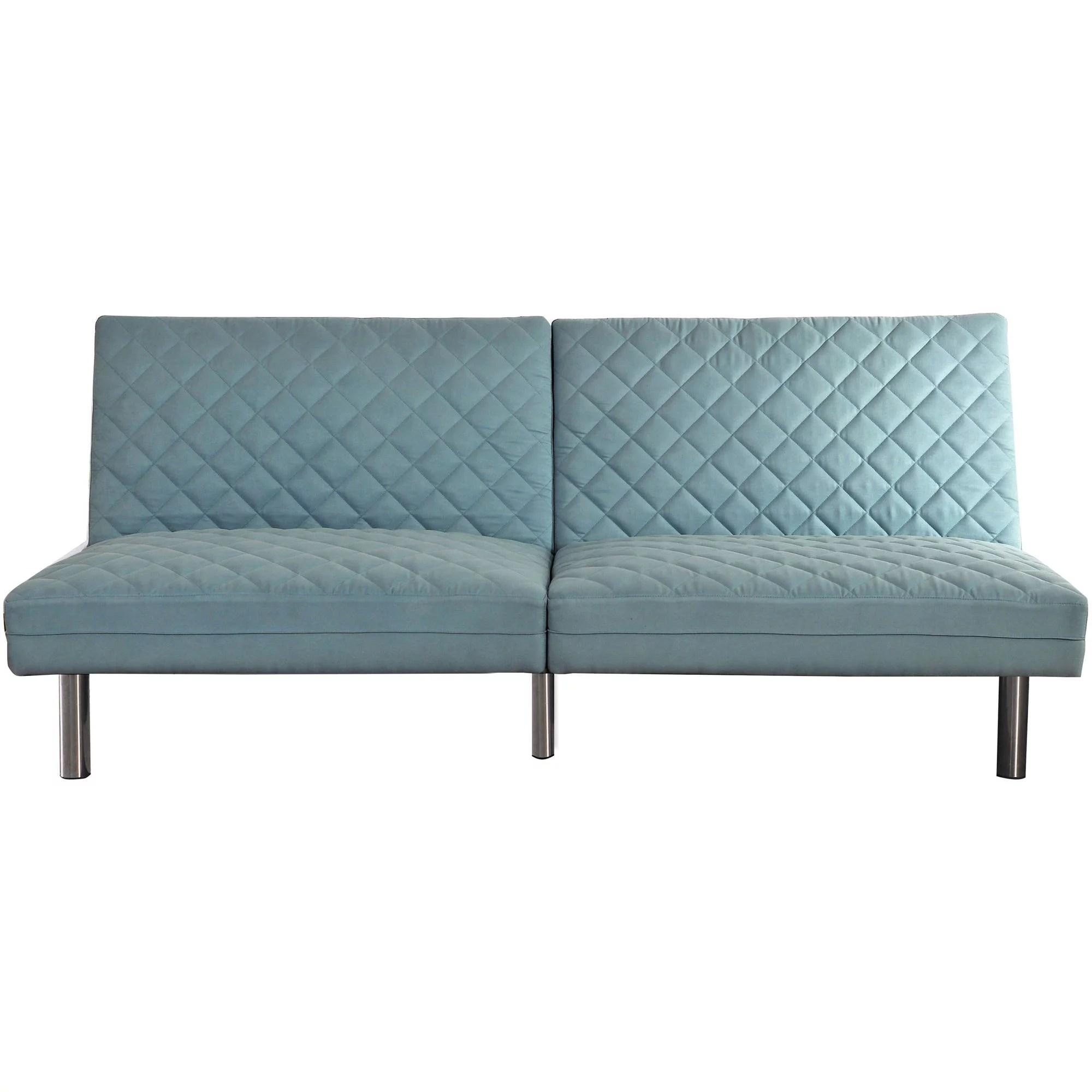 mainstays memory foam quilted futon multiple colors walmart com
