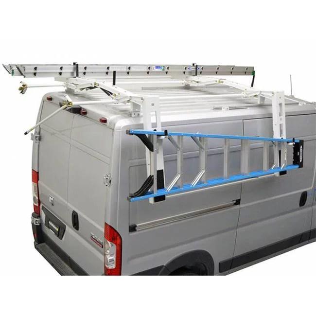 kargomaster 4099h b s single drop down ladder rack for mechanism high roof walmart com