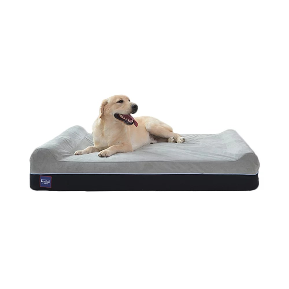 laifug orthopedic memory foam extra large dog bed pillow 50 x36 x10 slate grey durable water proof liner removable washable cover smart design