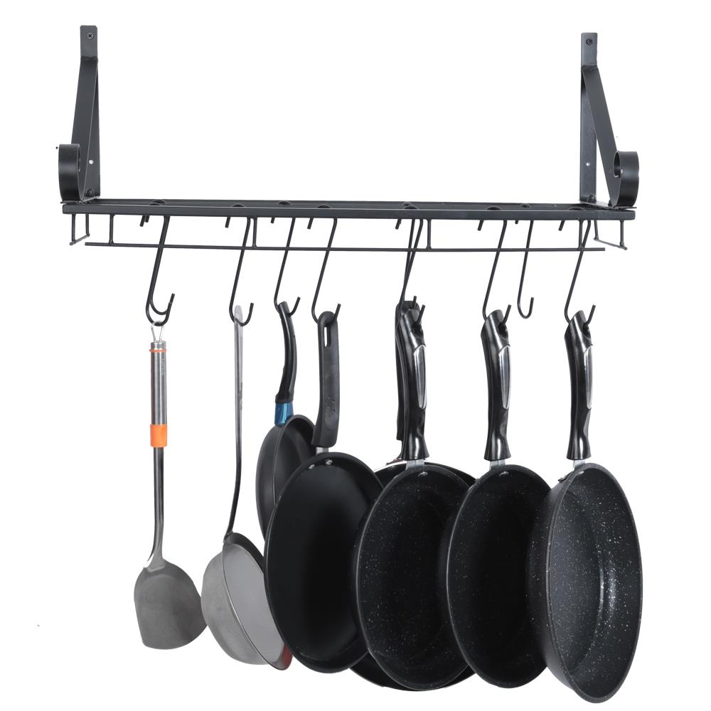 ktaxon sorbus pots and pan rack decorative wall mounted storage hanging rack