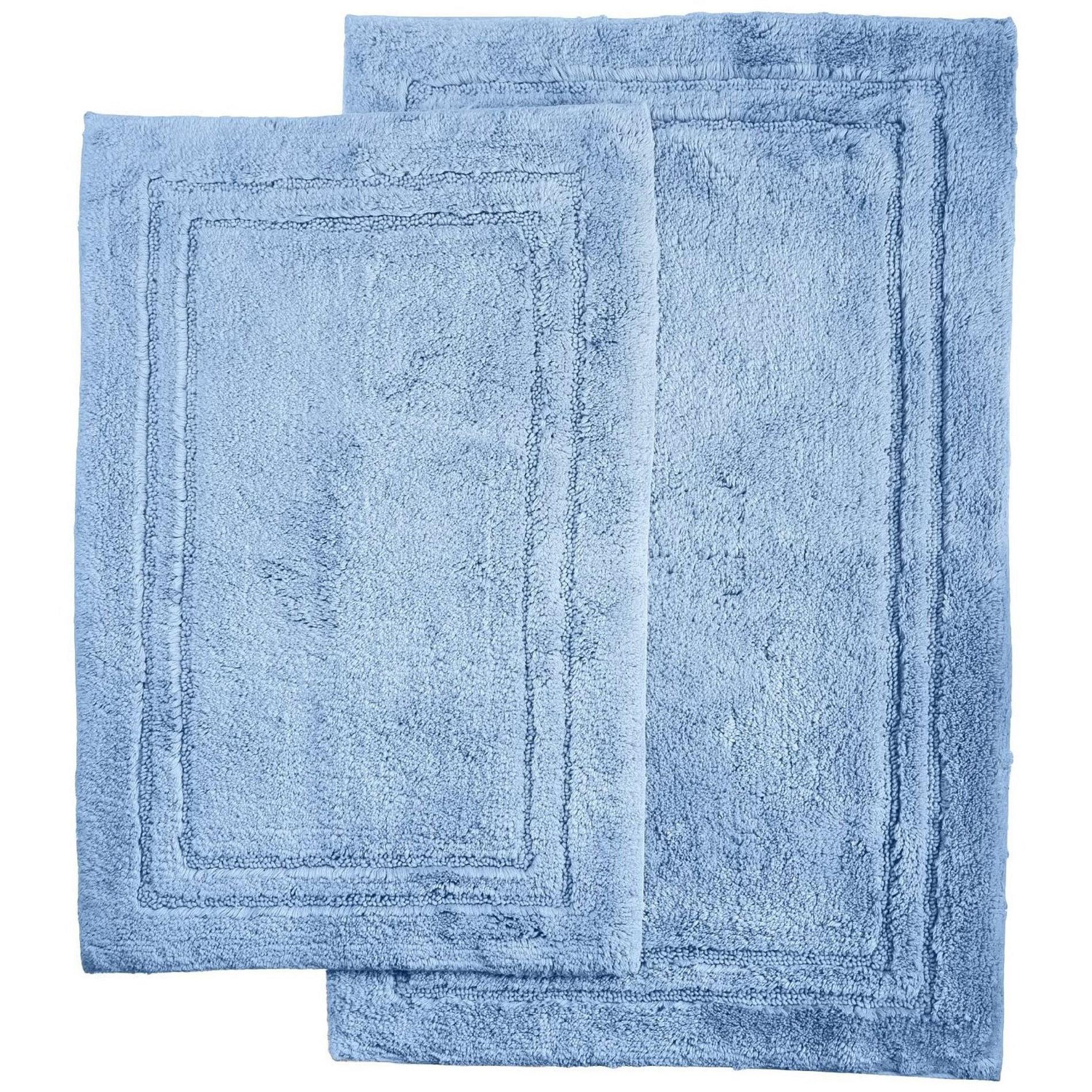 2 piece luxurious cotton bath rug set with non slip on farmhouse colors for bath mats walmart id=43876