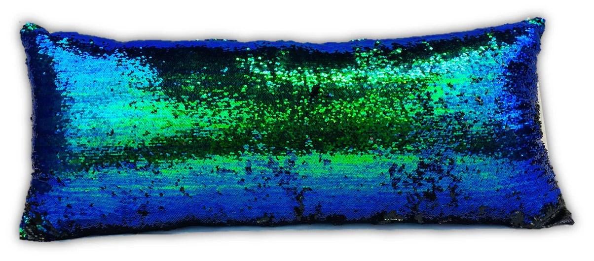 heritage club teal mermaid sequin body pillow