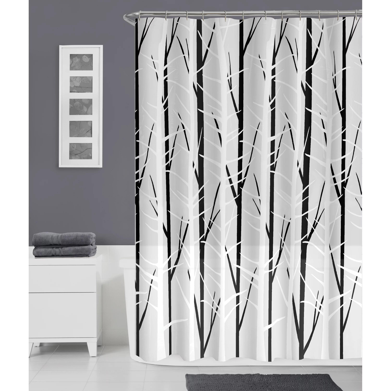 zenna home woodland peva shower curtain
