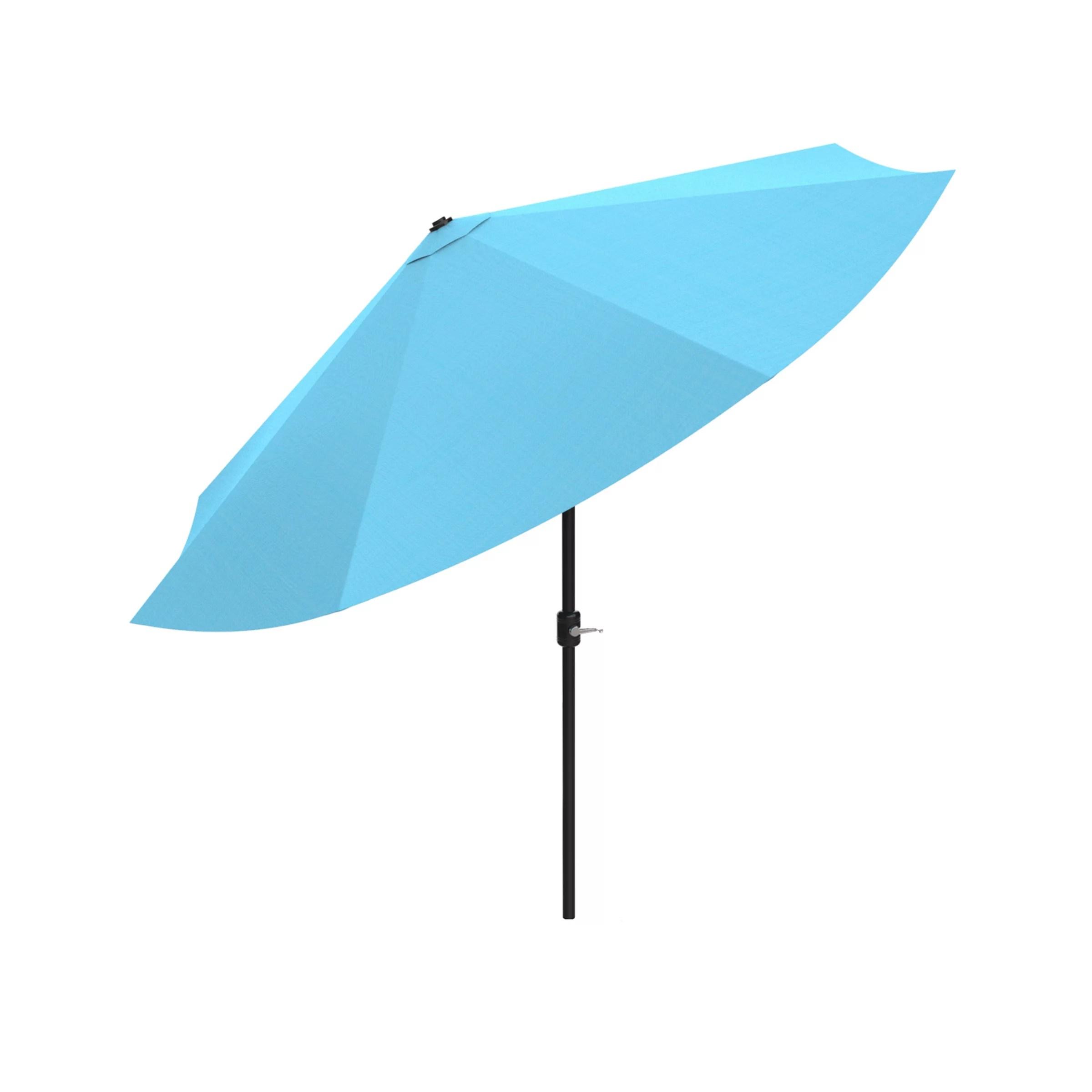 pure garden 10 easy crank auto tilt patio umbrella multiple colors
