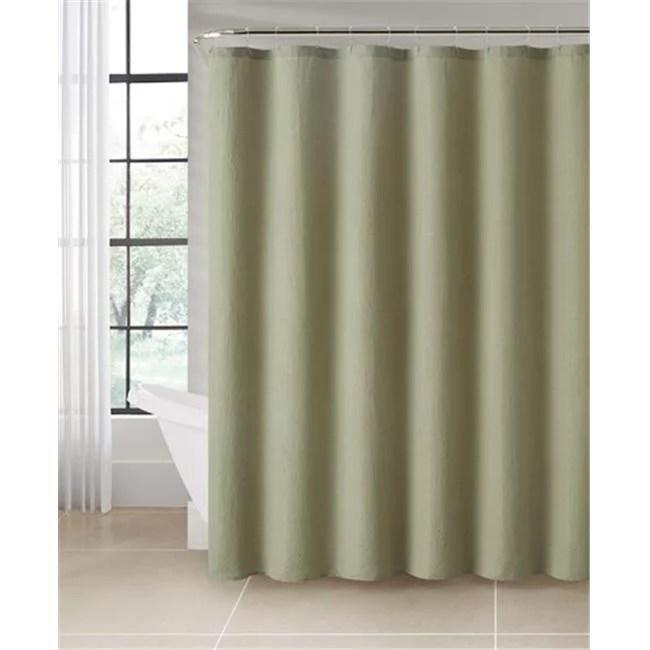 luxury home pick stitch jacquard shower curtain set moss 72 x 72 inch 13 piece set walmart com