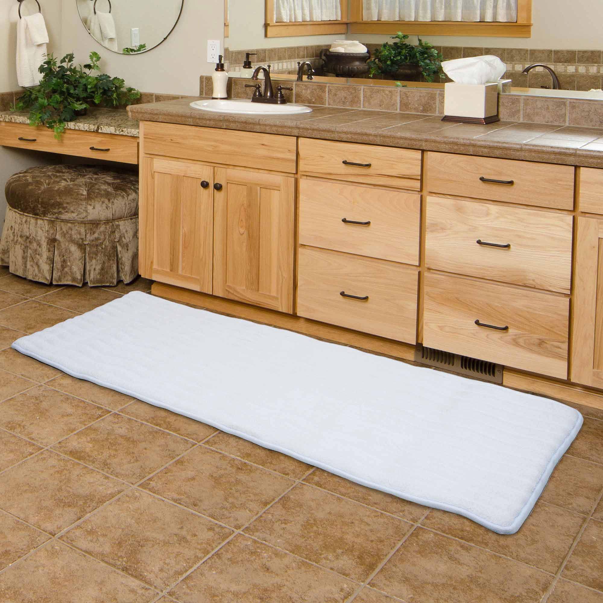 """somerset home memory foam extra long bath mat, 24"""" x 60"""" - walmart"""