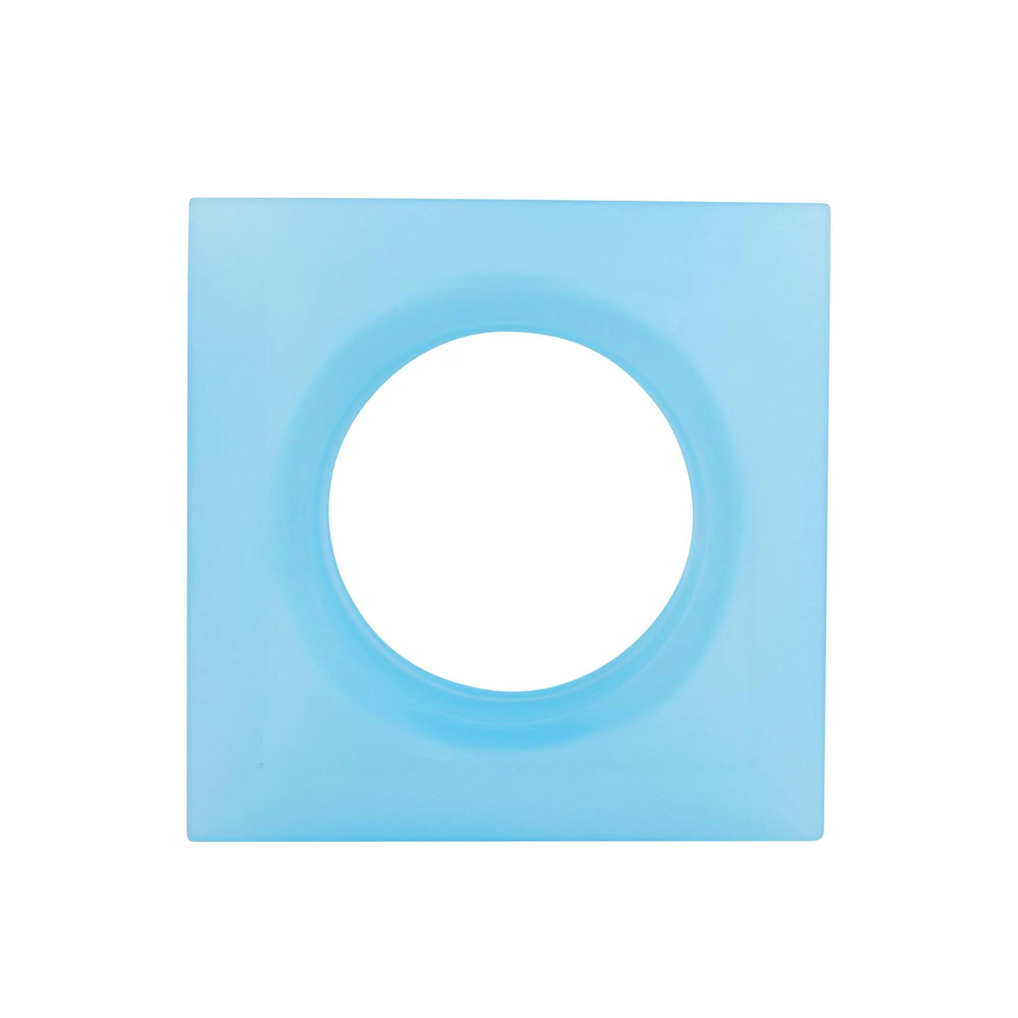 leucos lighting mira 2 glass square recessed lighting trim light blue glass