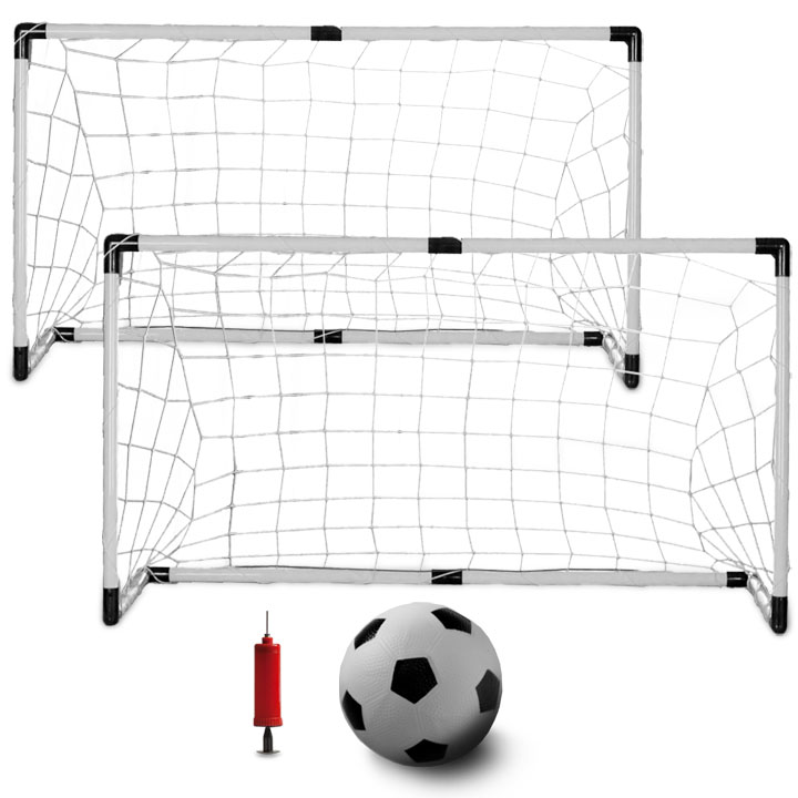 K-Roo Sports Kids Soccer Set (Includes Soccer Ball, Pump, and 2 Goals)