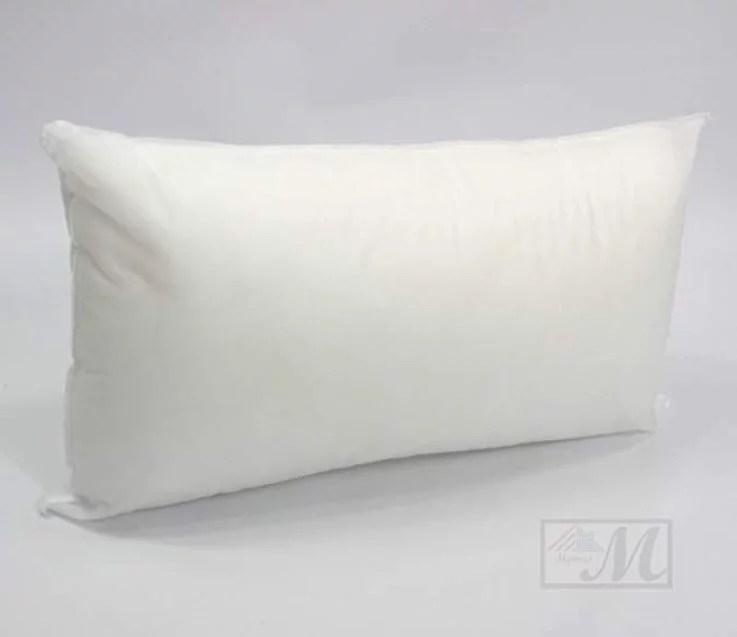 mybecca 12 x 24 inches pillow sham stuffer white rectangular hypoallergenic throw pillow insert premium made in usa