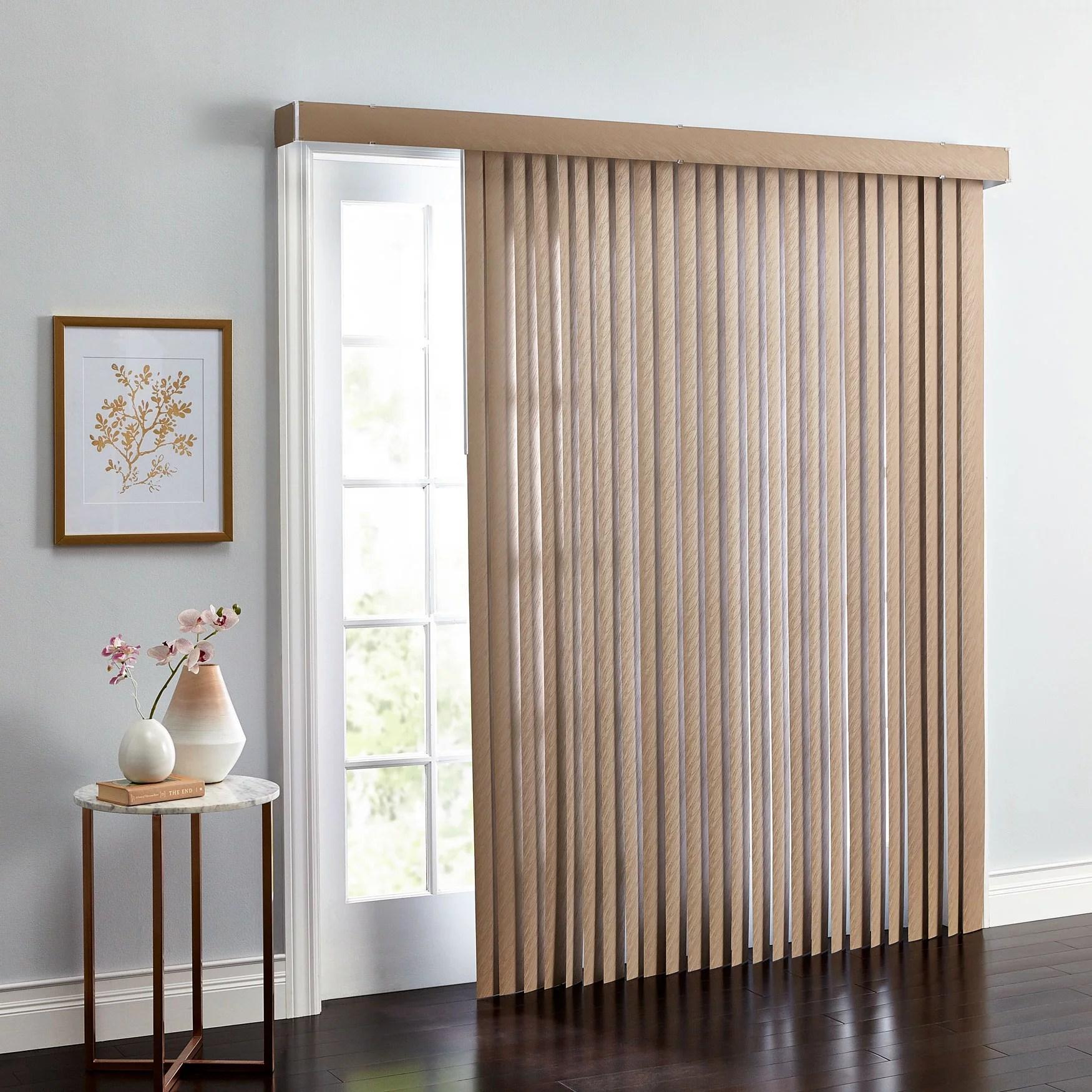 brylanehome embossed vertical blinds walmart com walmart com