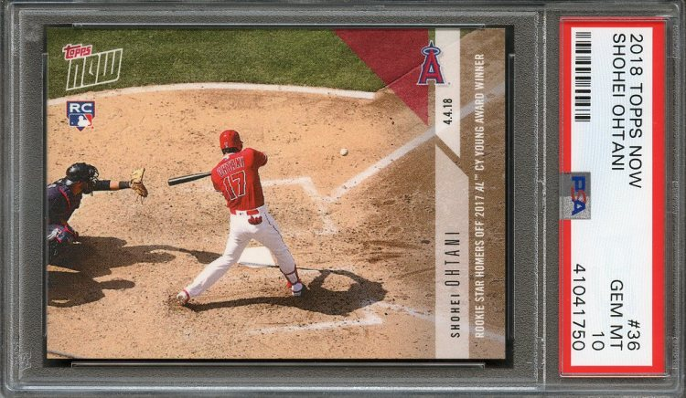 2018 topps now #36 SHOHEI OHTANI los angeles angels rookie ...